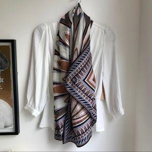 Tory Burch boho print 100% wool scarf